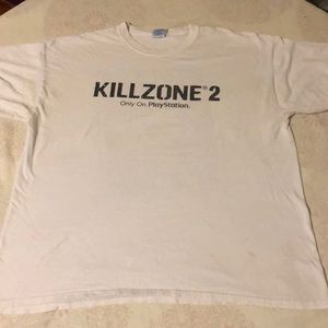 Killzone 2 only on play station XL T-SHIRT EX COND